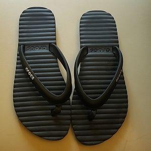 Crocs flip-flops size 9